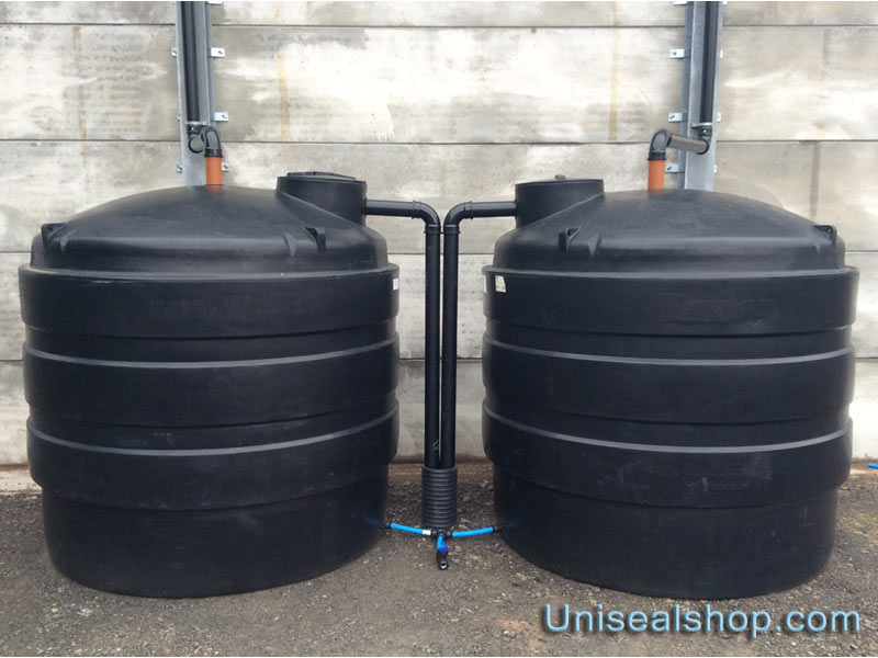20,000 litre water collection using 4 inch Uniseals