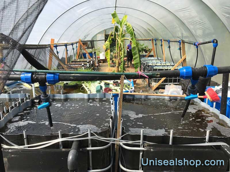 Uniseal in the hydroponics setup
