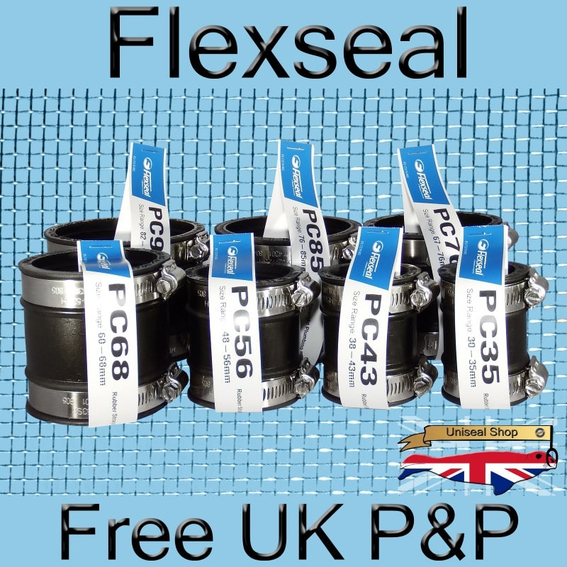 Flexseal 100mm-115mm Rubber Flexible Drainage Pipe Coupling